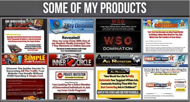 John Thornhill's affiliate marketing products