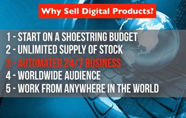 salesperson selling digital products
